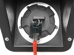 Fuel tank cap with lock
