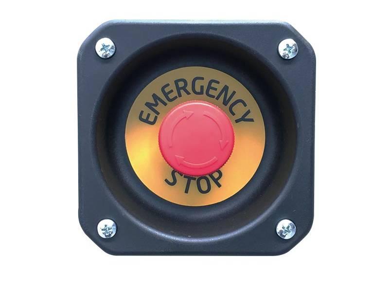 Bouton d'arrêt d'urgence. - Groupe électrogène GENMAC