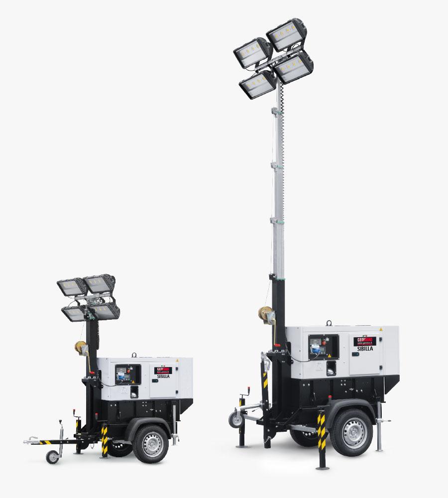 Portable Telescopic Light Tower: Torri Faro Trasportabili